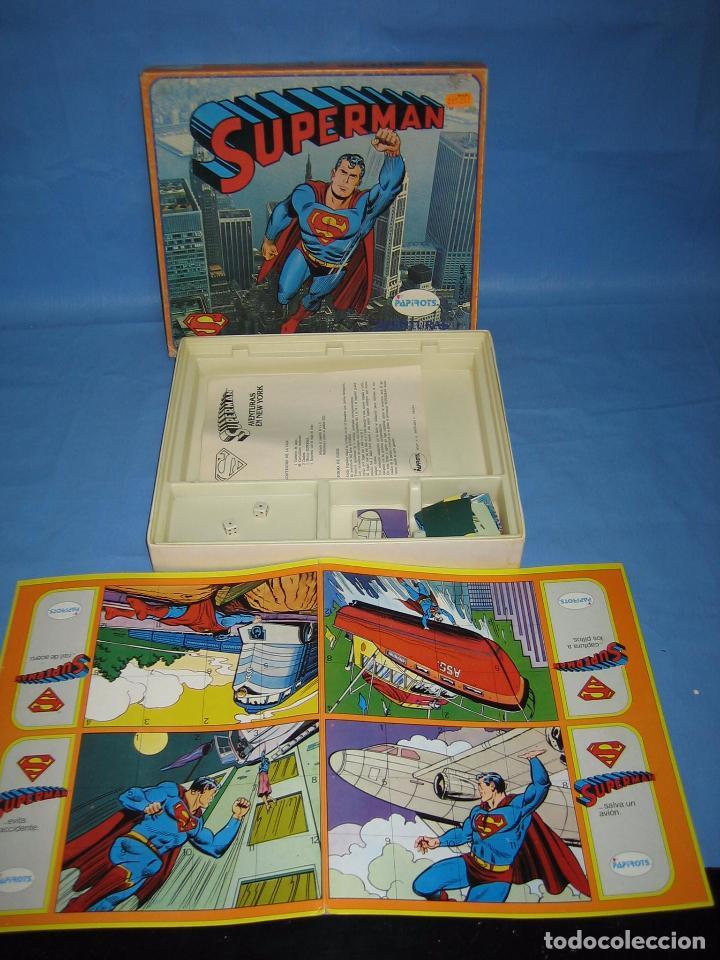 Juegos de mesa: 14 juego de mesa superman de Papirots. Incompleto - Foto 2 - 70118601