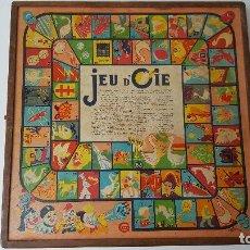 Juegos de mesa: ANTIGUO JUEGO FRANCES DE LA OCA, PARCHIS, DAMAS Y BACKGAMMON. Lote 70374913