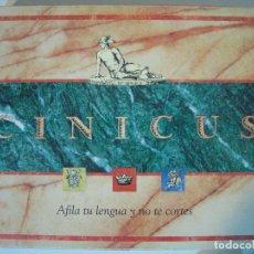Juegos de mesa: JUEGO DE MESA CINICUS - PUBLIJUEGO 1991 ( SIN USO ). Lote 71412431