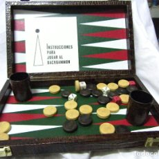 Juegos de mesa: JUEGO BACKGAMMON. Lote 71694135