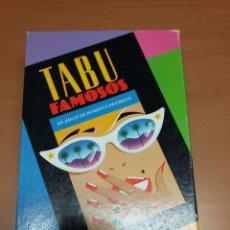 Juegos de mesa: TABU FAMOSOS ( VER NOTAS). Lote 72101903