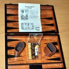Juegos de mesa: MALETÍN-TABLERO EN MADERA DEL JUEGO DE BACKGAMMON - MUY BIEN CONSERVADO - EL QUE SE VE EN IMÁGENES. Lote 72756451