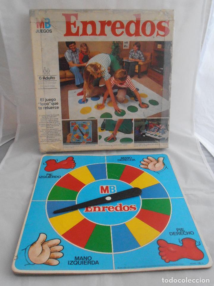 JUEGO ENREDOS MB CAJA ORIGINAL COMPLETO, AÑOS 80 (Juguetes - Juegos - Juegos de Mesa)