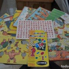 Juegos de mesa - juegos reunidos geyper cartones e instrucciones. - 73695755