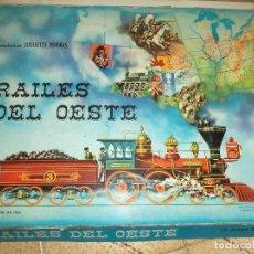 Juegos de mesa: BORRÁS - RAILES DEL OESTE 1964.PARA RESTAURAR O PIEZAS.. Lote 73852579