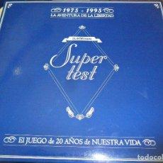 Juegos de mesa - SUPERTEST - 1975-1995 LA AVENTURA DE LA LIBERTAD - JUEGO TRIVIAL 20 AÑOS DE NUESTRA VIDA - EL MUNDO - 74232235