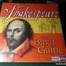 Juegos de mesa: JUEGO DE SHAKESPEARE THE BARD GAME EN INGLÉS COMPLETO Y NUEVO. Lote 74566699