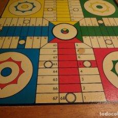 Juegos de mesa: TABLERO MADERA DE PARCHIS-DAMA AÑOS 50/60. Lote 74995255
