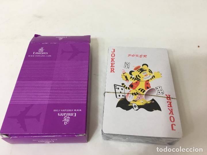 BARAJA DE CARTAS DE POKER SIN ABRIR, PUBLICIDAD LINEAS AEREAS EMIRATES (Juguetes - Juegos - Juegos de Mesa)