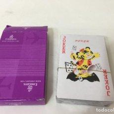 Juegos de mesa: BARAJA DE CARTAS DE POKER SIN ABRIR, PUBLICIDAD LINEAS AEREAS EMIRATES. Lote 75827127