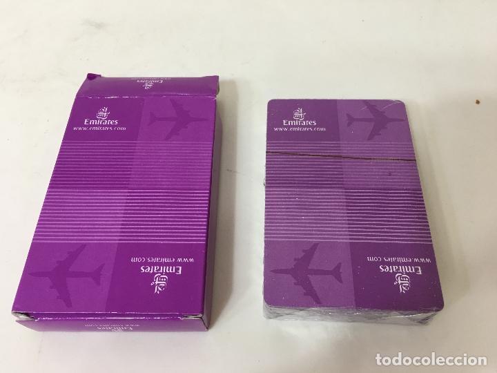 Juegos de mesa: BARAJA DE CARTAS DE POKER SIN ABRIR, PUBLICIDAD LINEAS AEREAS EMIRATES - Foto 2 - 75827127