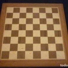 Juegos de mesa: TABLERO DE AJEDEZ DE MADERA - 40 X 40 CM. - MATE - CASA ESCARDIBULL - SIN USAR. Lote 75958811