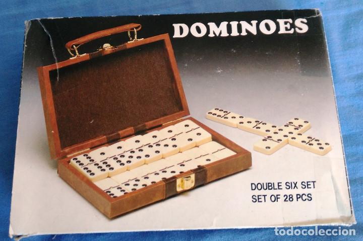 Juegos de mesa: DOMINÓ EN ESTUCHE SEMIPIEL- PARA VIAJE- MUY BUEN ESTADO- - Foto 2 - 75990039