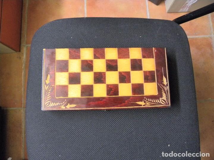 TABLERO CAJA DE AJEDREZ O DAMAS (Juguetes - Juegos - Juegos de Mesa)