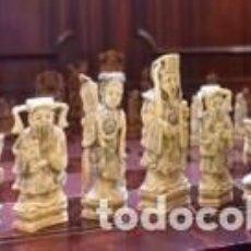 Juegos de mesa: FANTÁSTICO JUEGO DE AJEDREZ DE MARFIL. Lote 76399231