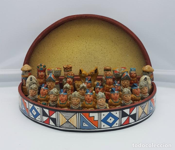 Original Ajedrez Mexicano De Estilo Azteca En Comprar Juegos De