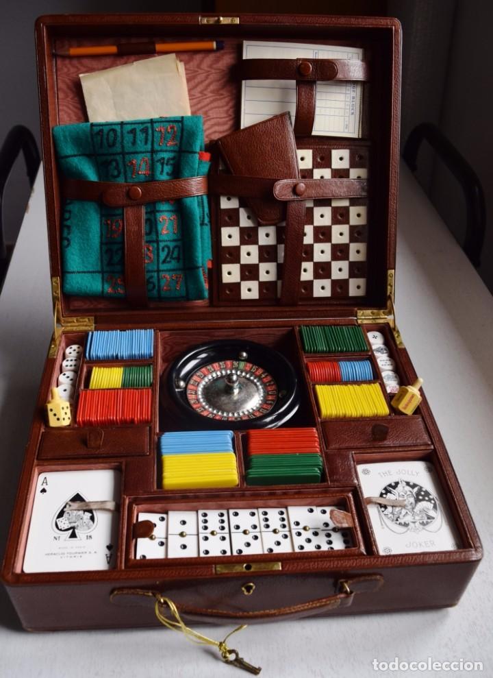 antigua caja de juegos de mesa, años 50-60 - Comprar ...