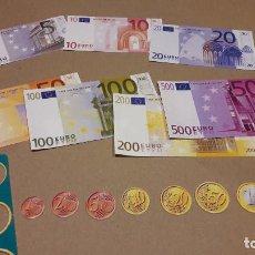Juegos de mesa: PARA TUS JUEGOS DE MESA. BILLETES Y MONEDAS DE EURO, EN PAPEL Y CARTÓN / 6 JUEGOS COMPLETOS.. Lote 165931013
