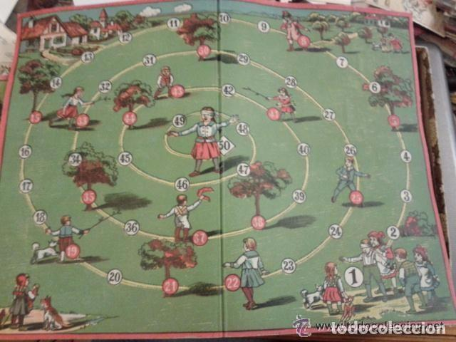 Juegos de mesa: Juego de principios de siglo la gallinita ciega la caja mide 28 x 20 x 3 cm. Incluye el tablero. - Foto 2 - 76941461