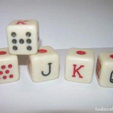 Juegos de mesa: ANTIGUO JUEGO DE DADOS DE POKER.. Lote 122678699