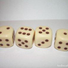 Juegos de mesa: ANTIGUO JUEGO DE DADOS...TOTAL. CUATRO.. Lote 77274209