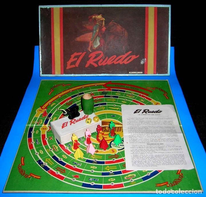 EL RUEDO. RARO JUEGO DE MESA TAURINO, TOROS, TAUROMAQUIA, ORIGINAL AÑOS 50. COMPLETO. (Juguetes - Juegos - Juegos de Mesa)