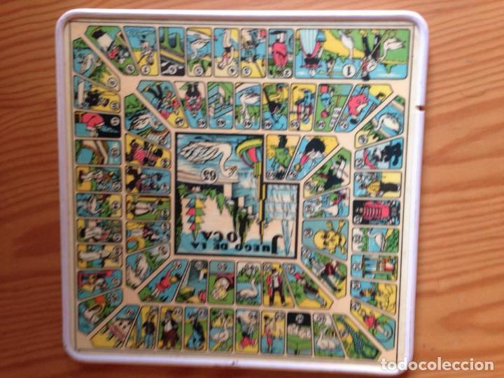 Juegos de mesa: Tablero Parchís y juego de la Oca antiguo - Foto 2 - 77797373