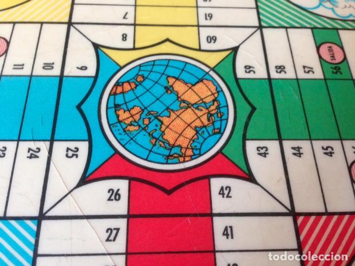 Juegos de mesa: Tablero Parchís y juego de la Oca antiguo - Foto 5 - 77797373