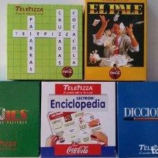 Juegos de mesa: LOTE JUEGOS DE MESA TELEPIZZA Y COCACOLA - EL PALE MOVIES DICCIOPINTA ELECTRÓN INTELECT NUEVOS . Lote 78301181