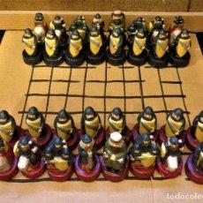 Juegos de mesa: CURIOSO AJEDRES ESTILO MEDIEVAL FIGURAS DE GRES. Lote 79642365