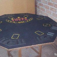 Juegos de mesa: TABLERO DE POKER PARA 8 JUGADORES, PEGABLE, MUY POCO USO. Lote 79670533