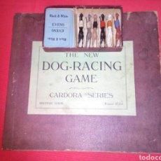 Juegos de mesa: ANTIGUO JUEGO DE CARRERAS DE GALGOS *DOG RACING GAME* GALGOS DE PLOMO *CARDORA SERIES*. Lote 119041794