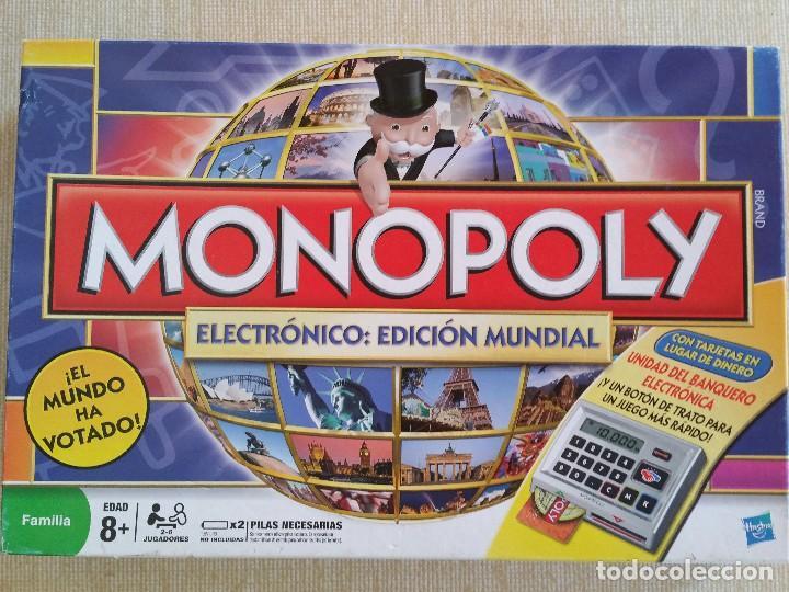 Monopoly Electronico Edicion Mundial Buen Est Comprar Juegos De