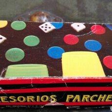 Juegos de mesa: CAJA ACCESORIOS PARCHIS. Lote 82321791