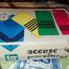 Juegos de mesa: ACCESORIOS PARCHIS CUBOS CUADRADOS. Lote 82727872