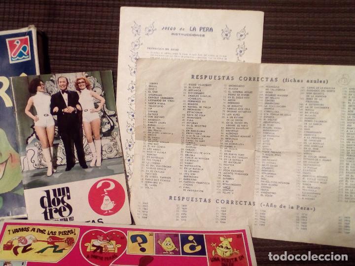 Juegos de mesa: LA PERA - JUEGO DEL CONCURSO UN, DOS, TRES DE TVE -AÑOS 70-Ed. Carles Dalmau-Preguntas y Respuestas - Foto 3 - 82899164