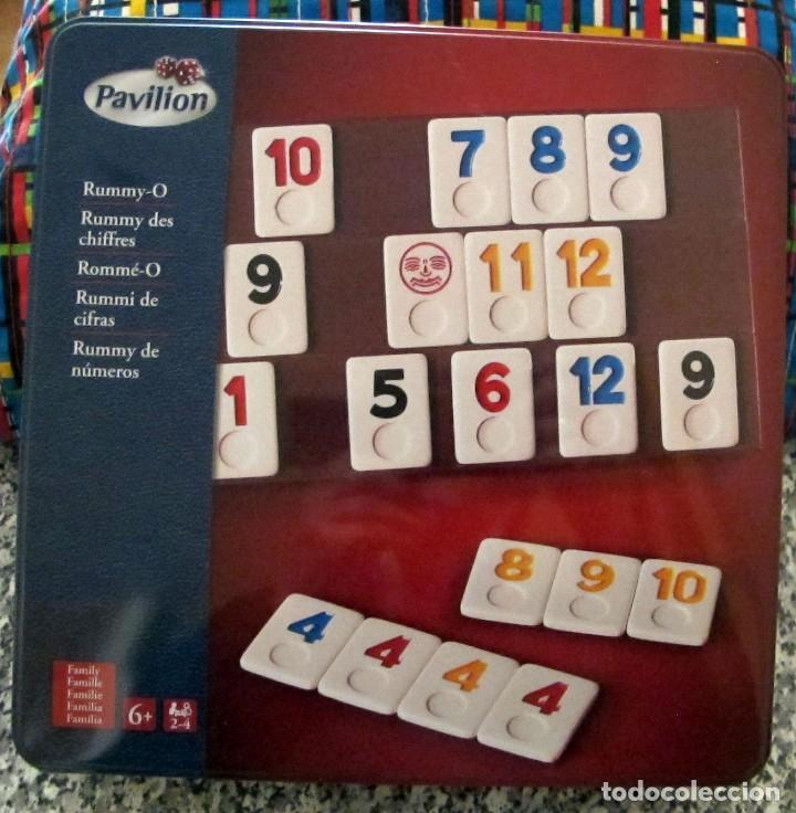 Juego De Mesa Rummy Pavilion En Caja Metalica Buy Old Board Games