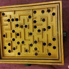 Juegos de mesa: CAJA MADERA - JUEGO DE CANICAS. Lote 83116983