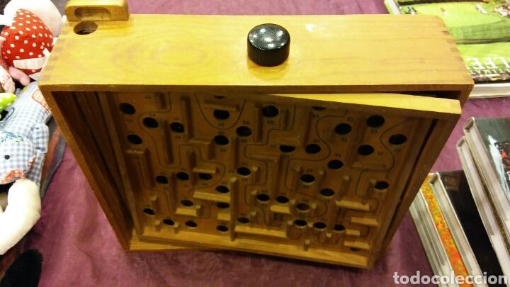 Juegos de mesa: Caja madera - juego de canicas - Foto 2 - 83116983