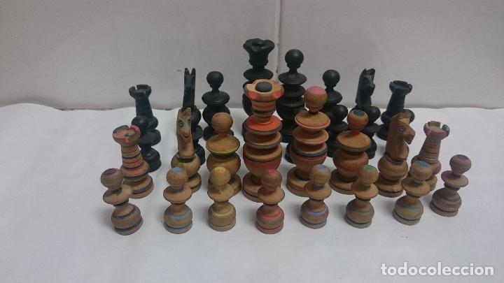 JUEGO PIEZAS DE AJEDREZ DE MADERA (Juguetes - Juegos - Juegos de Mesa)