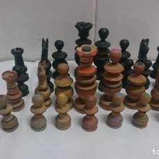 Juegos de mesa: JUEGO PIEZAS DE AJEDREZ DE MADERA. Lote 164283901