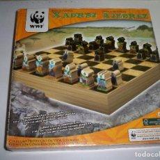 Juegos de mesa: AJEDREZ MADERA NATURAL CUENCA DEL CONGO WWF. Lote 83476208