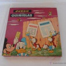 Juegos de mesa: JUEGO DE MESA LAS QUINIELAS WALT DISNEY MANOFACTURA DE JUGUETES BARTRES, COMPLETO. Lote 84290100
