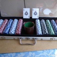 Juegos de mesa: CARTAS, DADOS Y FICHAS CASINO. Lote 84416144