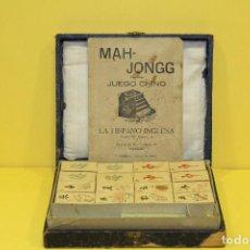 Juegos de mesa: ANTIGUO JUEGO CHINO MAH-JONGG - COMPLETO. Lote 84524776