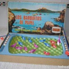 Juegos de mesa: JUEGO COMANSI COMPLETO: LOS BARQUITOS DE PAPEL - REF 168 (EN CAJA). Lote 84845360