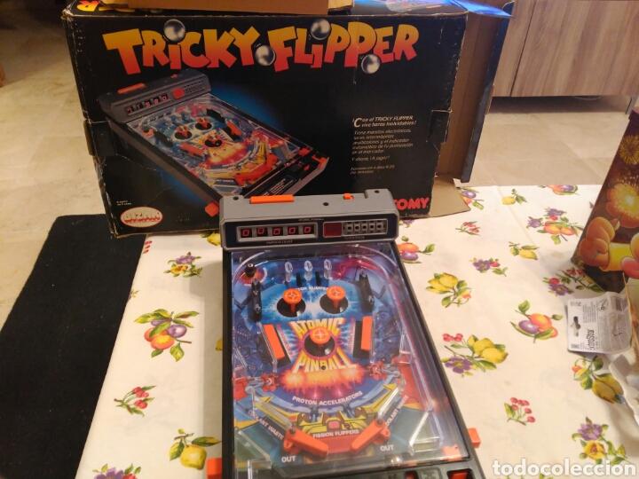 Juego pinball tricky flipper a os 80 funciona comprar for Pinball de mesa