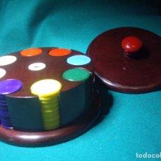 Juegos de mesa: FICHAS DE JUEGO - ESTUCHE REDONDO. Lote 86057088