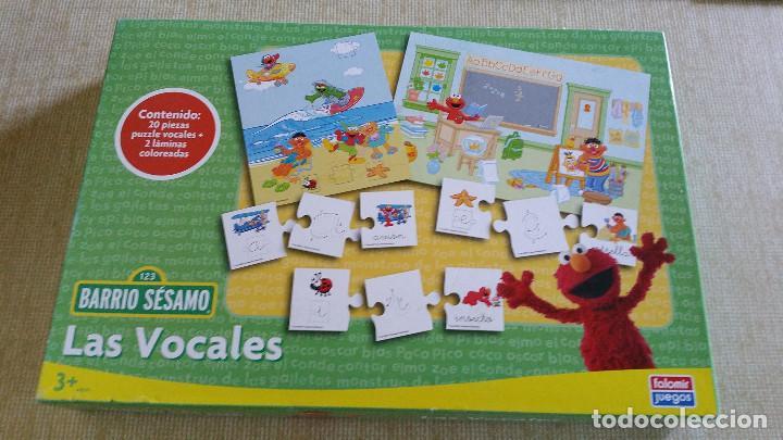 Barrio Sesamo Las Vocales De Falomir Jugu Comprar Juegos De