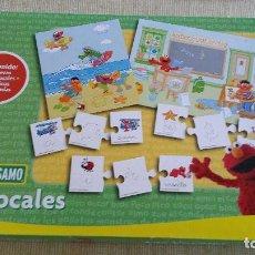 Juegos de mesa: BARRIO SÉSAMO - LAS VOCALES - DE FALOMIR - JUGUETE EDUCATIVO INFANTIL. Lote 86101064